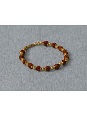 Gold plated Rudraksh bracelet