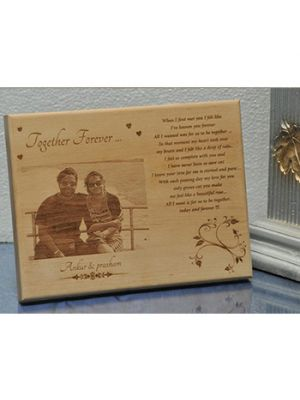 Together forever wooden Plaque