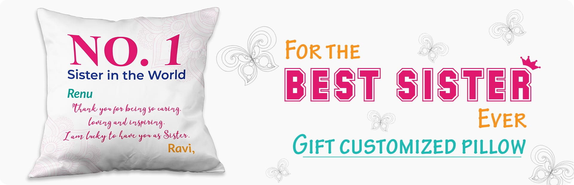 Gift your Sister a Pillow This RakshaBandhan