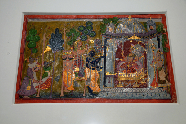 A Devi painting forms the centrepiece